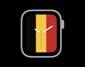 【ダウンロードはご自由に】Apple Watch カスタマイズ文字盤 ベルギー国旗ver.をシェア!