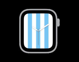 【ダウンロードはご自由に!】Apple Watch カスタマイズ文字盤 アルゼンチン代表風デザインをシェア!