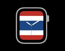 【ダウンロード自由!】Apple Watch カスタマイズ文字盤 タイ国旗ver.をシェア!