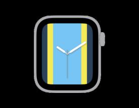 【ダウンロード自由!】Apple Watch カスタマイズ文字盤 メンフィス グリズリーズ風デザインをシェア!