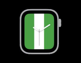 【ダウンロード自由!】Apple Watch カスタマイズ文字盤 ナイジェリア国旗ver.をシェア!